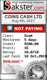 coinscash.biz monitoring by bakster.com