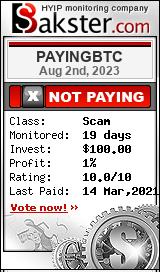 payingbtc.biz monitoring by bakster.com